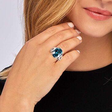 Gorgeous 10.00 Carat London Blue Topaz Ring