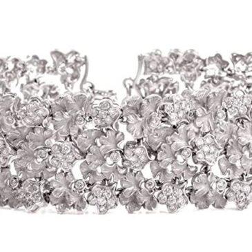 Diamond Gold Wreath Choker Necklace