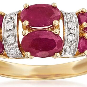 A Gorgeous 2.60 ct. t.w. Ruby and Diamond-Accented Ring in 14kt Yellow Gold