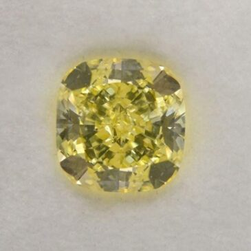 Leibish & Co 1.66 Carat Fancy Yellow Loose Diamond Natural Color Cushion Cut GIA Certified