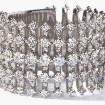 A Gorgeous Disco Diamond & 18kt White-gold Ring by Fernando Jorge