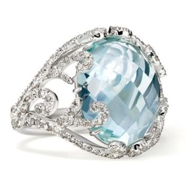 A Gorgeous Aquamarine and Diamond Ring