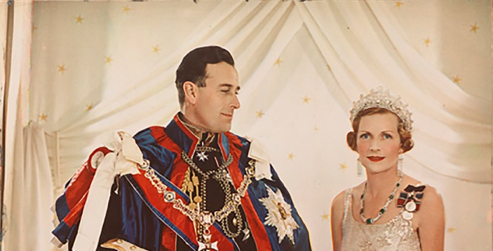 Lady Edwina and Louis Mountbatten at the coronation of King Georges VI in 1937