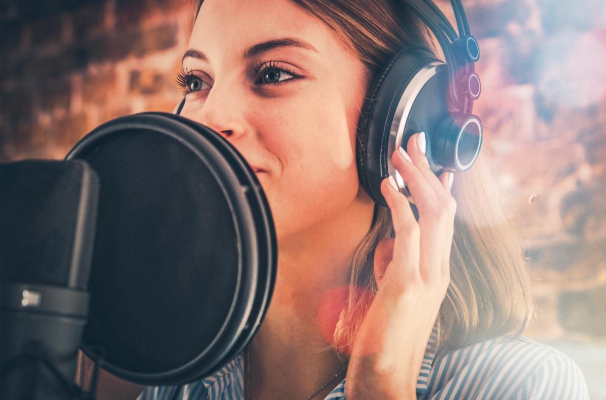 Voiceover Artist Recording Meditation