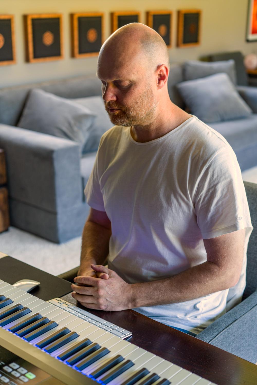 Chris Meditating before Composing