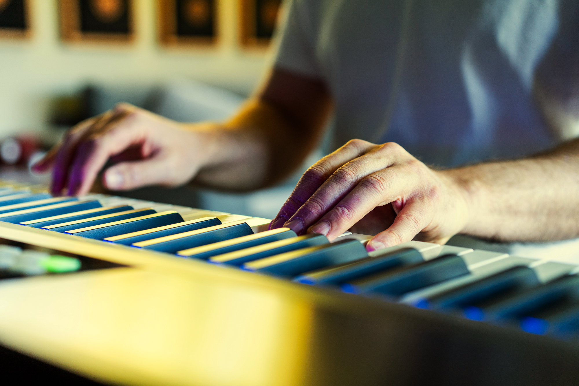 Christopher Composing Music
