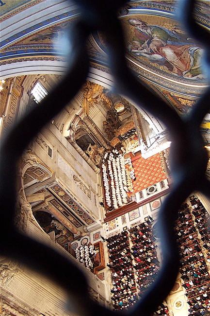 Looking Down Inside St Perters
