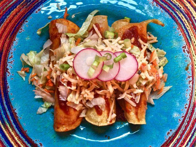 hatch chicken enchiladas