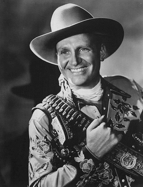 Gene Autry Black and White Photo