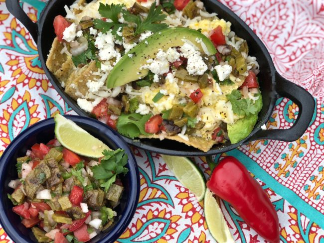 Recipe for Chilaquiles with Tortilla Chips
