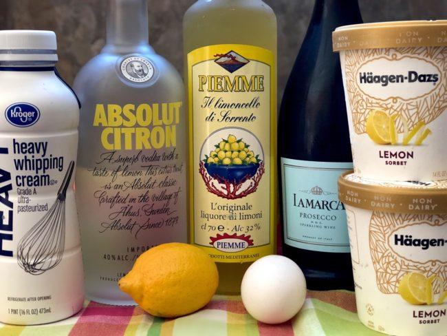 lemon sorbet prosecco cocktail ingredients
