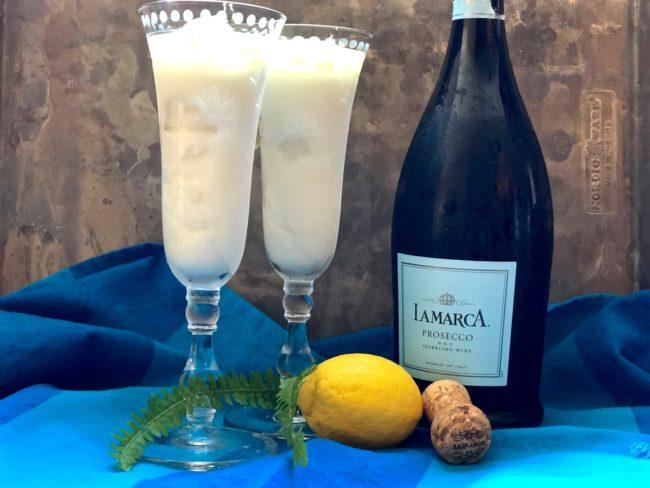 lemon sorbet prosecco cocktail