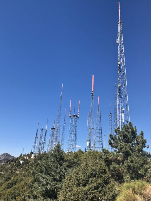 t.v towers Mount Wilson