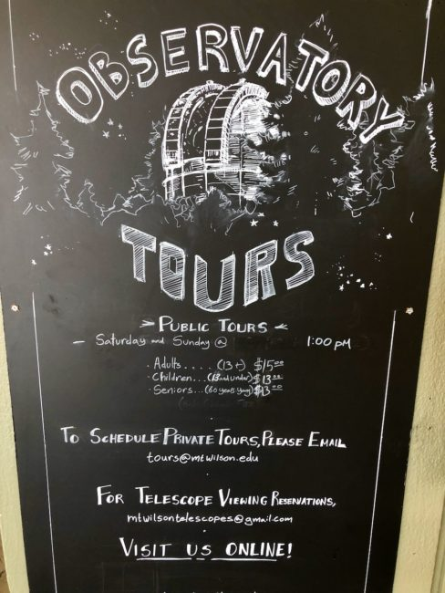 Mount Wilson Observatory Tours