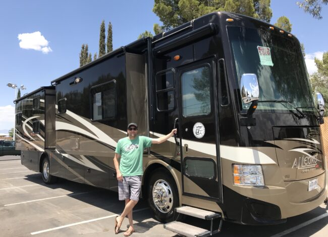 Friend Tyler Next to his Motorhome
