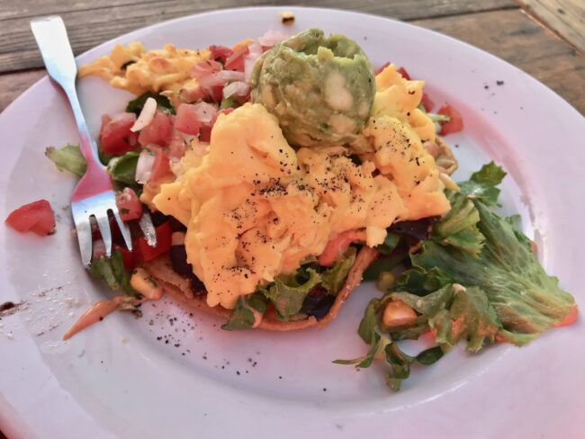 Breakfast Tostada Spoke Bicycle Cafe