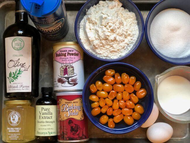 citrus olive oil bundt cake ingredients