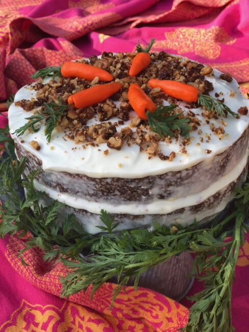 Hatch Chile Carrot Cake is ready