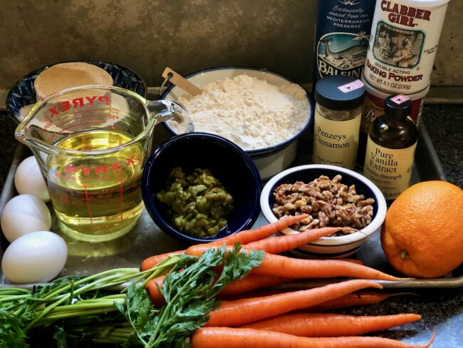 Hatch Chile Carrot Cake Ingredients