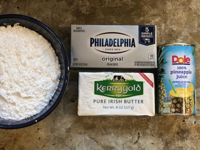 Pineapple Cream Cheese Frosting Ingredients