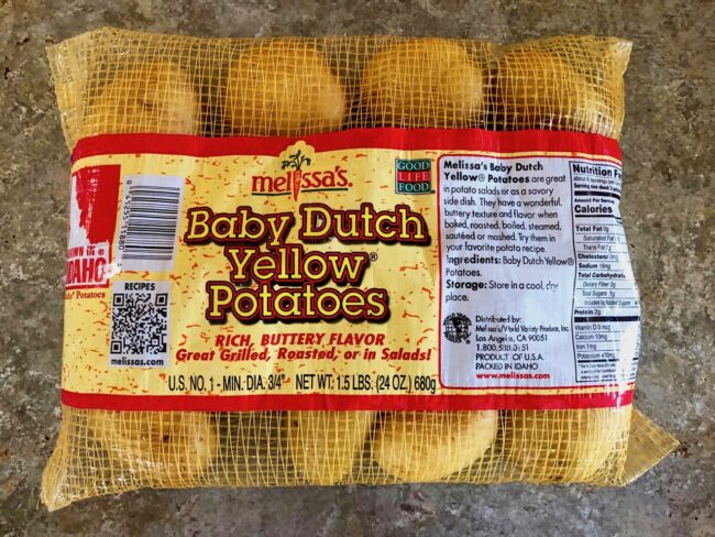 bag of Baby Dutch Yellow Potatoes