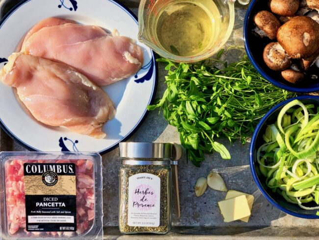 Roasted Chicken with Pancetta Ingredients
