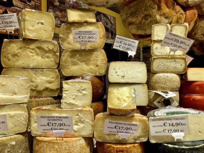 more cheese blocks at the market