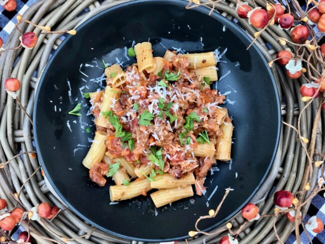 Rigatoni with sausage and fennel pasta