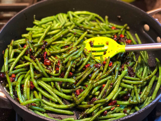 cooking the green beans