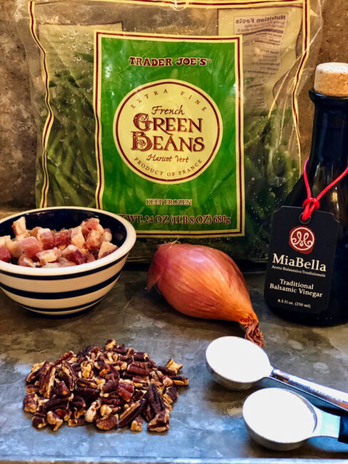 Green Beans with Pancetta, Shallots and Pecans Ingredients