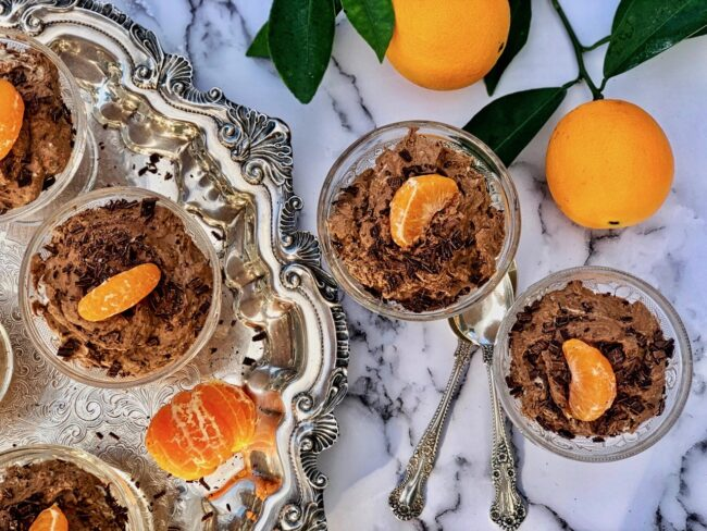 chocolate orange mousse cups
