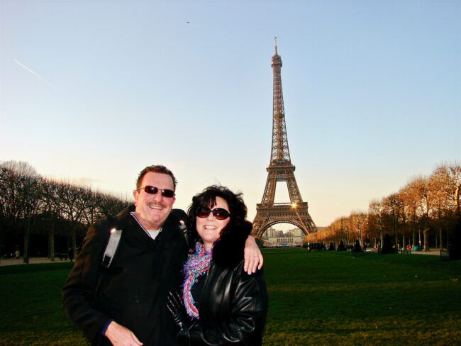 Tom & Tracy in front of Eiffel Tower