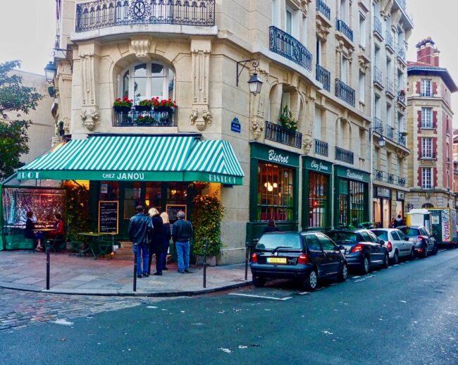 street corner in Paris, France