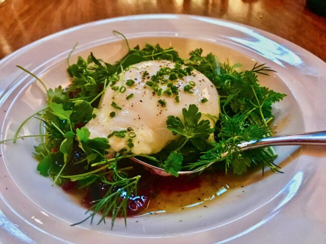 Burrata and Herb Salad at Hippo Highland Park