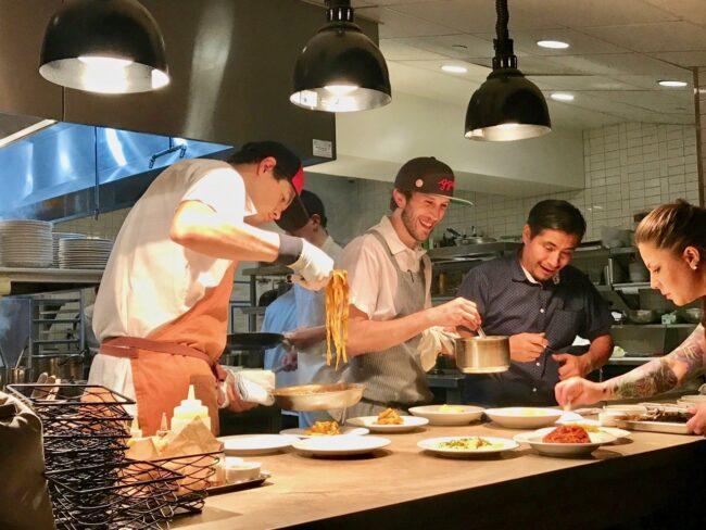 kitchen staff at Hippo Highland Park