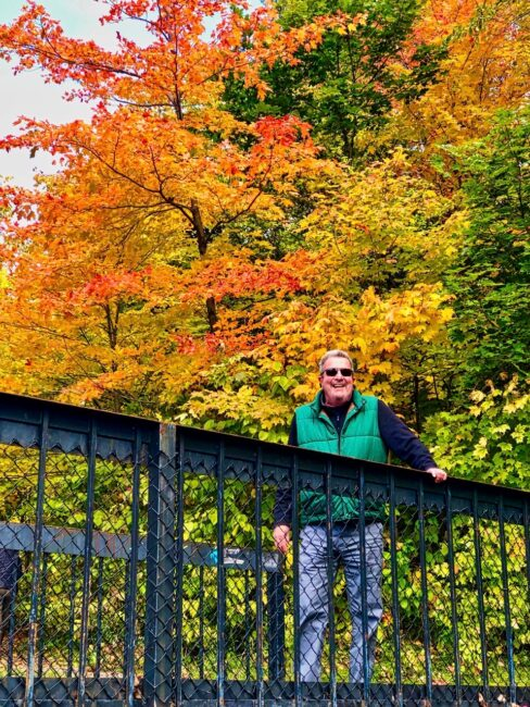 Tom in Canada during Fall