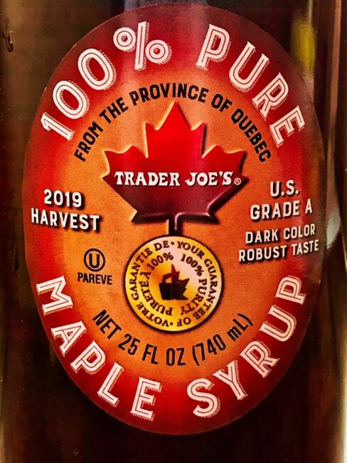 Trader Joes Canadian Maple Syrup