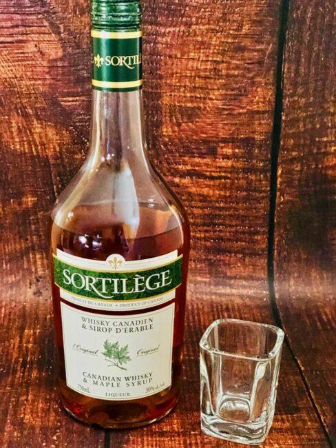 bottle of Sortilege Whiskey