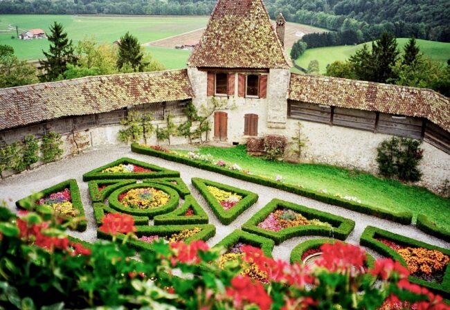 ChâteaudeGruyères in Switzerland