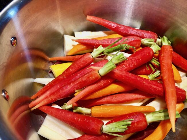 Barefoot Contessa's Orange-Braised Carrots and Parsnips Raw Ingredients