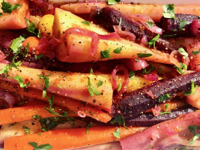 Barefoot Contessa's Orange-Braised Carrots and Parsnips Cooked