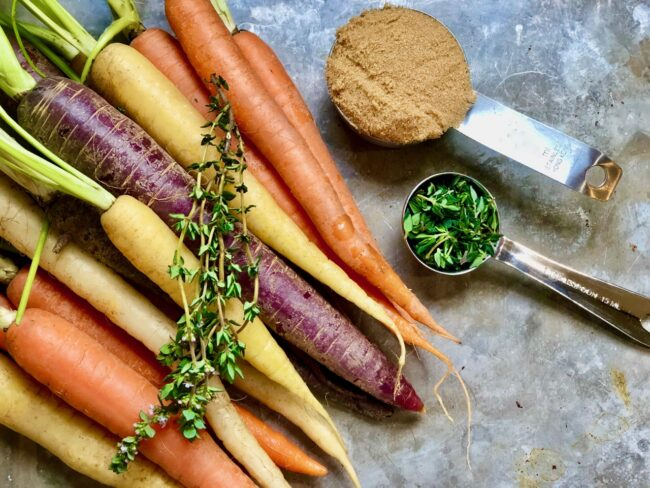 Mary's Roasted Carrots with Thyme and Brown Sugar Recipe