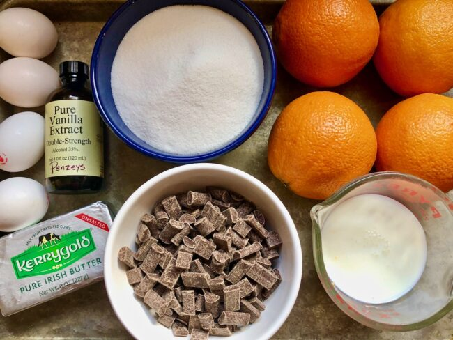 orange chocolate bundt cake ingredients
