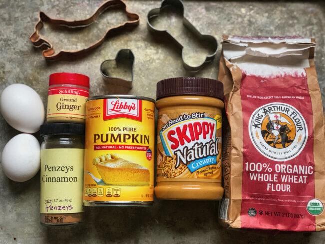 Peanut Butter & Pumpkin Dog Biscuit Ingredients