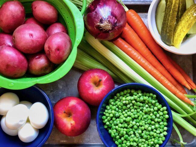 Polish Potato Salad Fresh Ingredients
