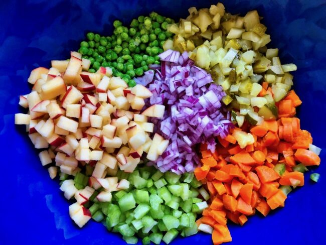 Polish Potato Salad Diced Ingredients