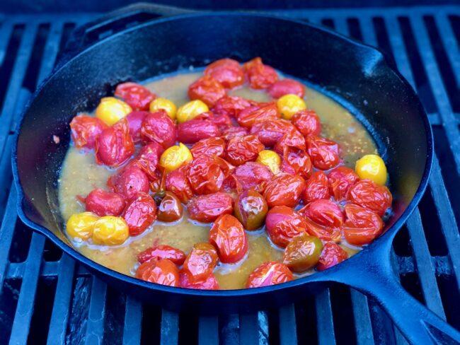 softened cherry tomatoes
