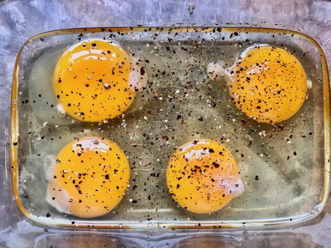 egg yolks for Bobby Flay Scrambled Eggs Recipe