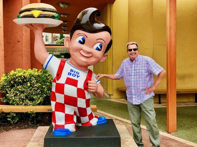 Tom with Bob's Big Boy