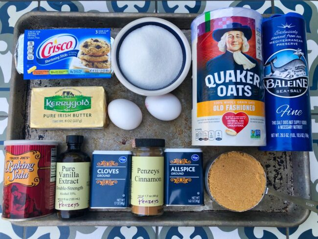 oatmeal spice cookies ingredients